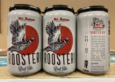 Mt Rushmore Rooster Red