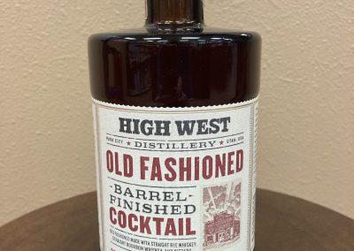 High West Old Fashioned Barrel Finished Cocktail
