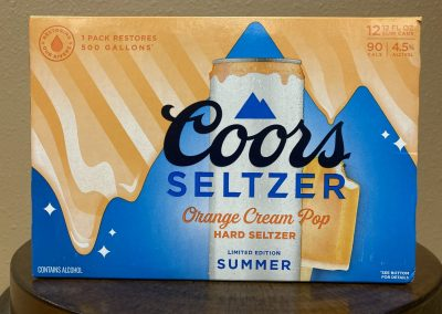 Coors Seltzer Orange Cream Pop