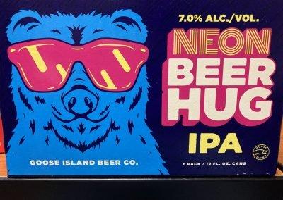 Goose Island Neon Beer Hug